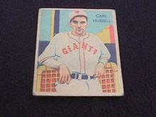 1935 DIAMOND STARS CARL HUBBELL NY GIANTS