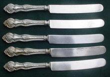 (5) Lakeside Grape/Vineyard Dinner Knives