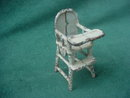 Vintage Cast Iron Doll Furniture High Chair
