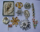 Group of Costume Jewelry Brooch Pins #1