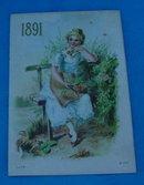 1891 Wheeling, Wv Adver. Calendar