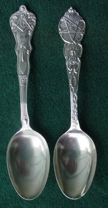 Pr. of Fraternal Sterling Spoons