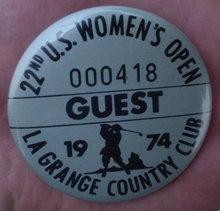 1974 U.S. Womens Open Guest Pinback