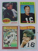 George Blanda Oakland Raiders Football Cards