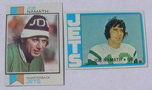 Pr. of Joe Namath N.Y. Jets Football Cards