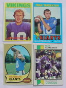 Fran Tarkenton Football Card Collection