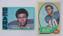 Pr. of Gale Sayers Chicago Bears Football Cards