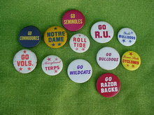 College Football Pinback Collection