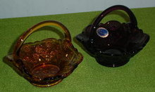 Pr. of Imperial Glass Handled Baskets