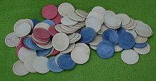 Lg. Lot of Old Embossed Poker Chips
