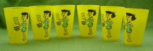 (6) 1970's Flintstones Betty 20 Oz. Glasses