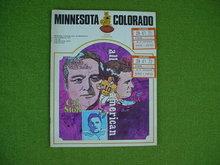 Minnesota v. Colorado 9/23/72 Football Program w/Stubs