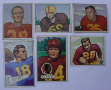 Washington Redskins 50's Bowman Football Cards