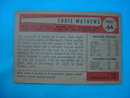 1954 Bowman Eddie Matthews Baseball Card