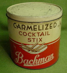 Old Bachman Cocktail Stix Tin