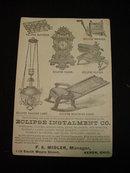 Old, Eclipse Installment Co. Akron, O. Trade Card