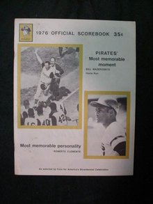1976 Pittsburgh Pirates Offical Scorebook