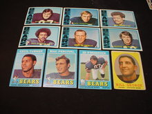 60's-80's Chicago Bears Football Cards