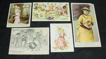 Early Sewing Machine Trade Cards