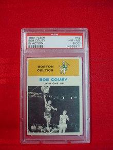 1961-62 Fleer Bob Cousy In Action Card PSA 8 (OC)
