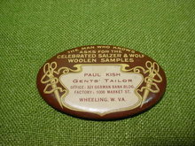 Paul Kish Tailor Wheeling, WV Adver Pocket Mirror