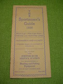 1936 Louisiana Hunting & Fishing Sportsman's Guide