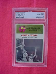 1961 Fleer Jerry West IA Basketball Card
