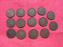 Indian Head Penny Collection 1886-99