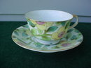 Occupied Japan Paulux Floral Cup & Saucer