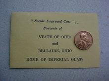 Imperial Glass Souvenir Penny w/Envelope