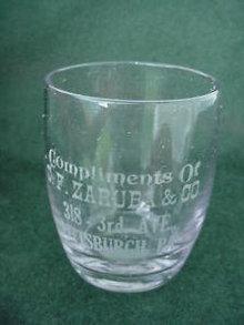Early, C.F. Zaruba Pittsburgh, Pa Shot Glass