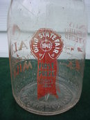 Isaly's Qt. Milk Bottle Ohio St. Fair 1940
