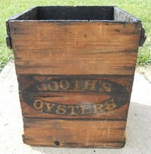 Early, Booth's Oysters Wood Crate Shipping Box