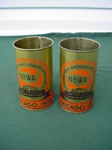 Pr 1939 Chicago 2nd Annual Beer Convention Handled Mugs