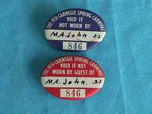 Pr. of 1931 Carnegie, Pa Carnival Badges
