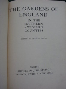 Gardens of England Illustrated 1907 Book