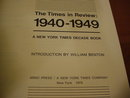 1940-49 New York Times in Review Book