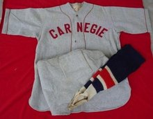1940's Carnegie, Pa Complete Baseball Uniform