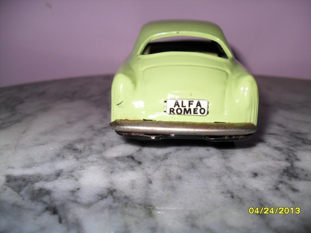 Vintage Tin Litho Friction Alfa Romeo car made in Japan