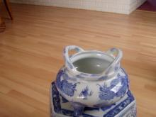 Chinese Blue White Dragon Censer