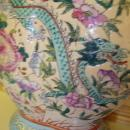Chinese Double Vase with Dragon