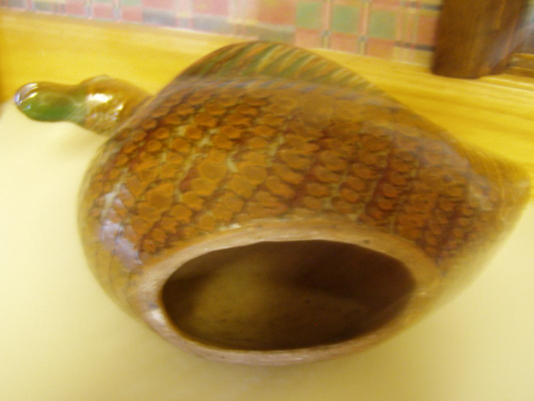Beautiful Old Japanese Russet Pottery Duck or Goose?