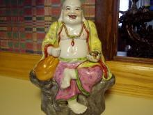 Large Sitting Happy Buddha