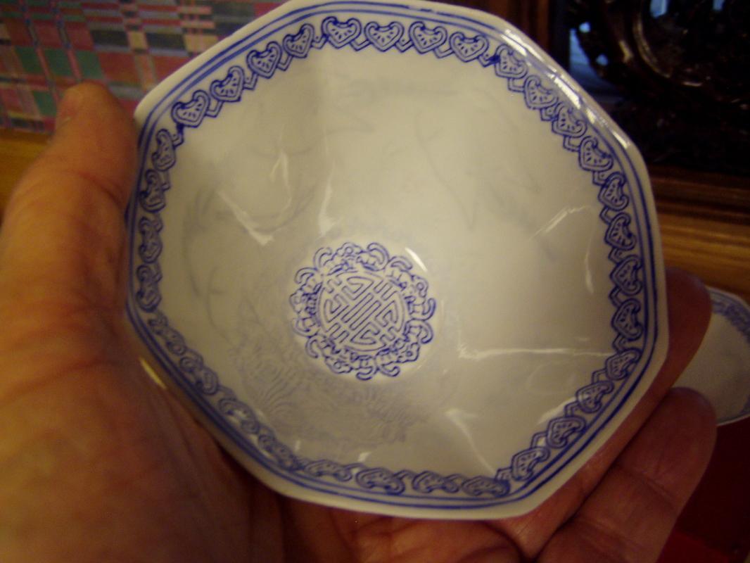19th C Chinese Eggshell Porcelain Bowls