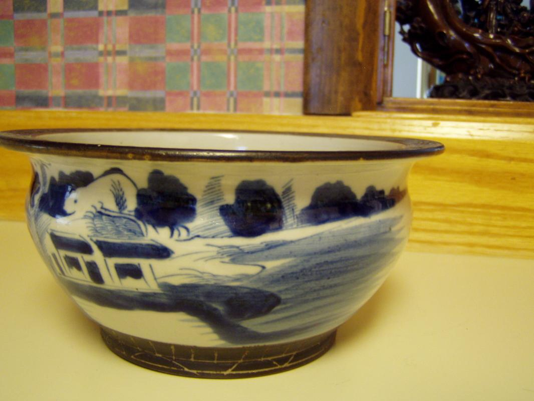 Antique Chinese Incense Burner Bowl