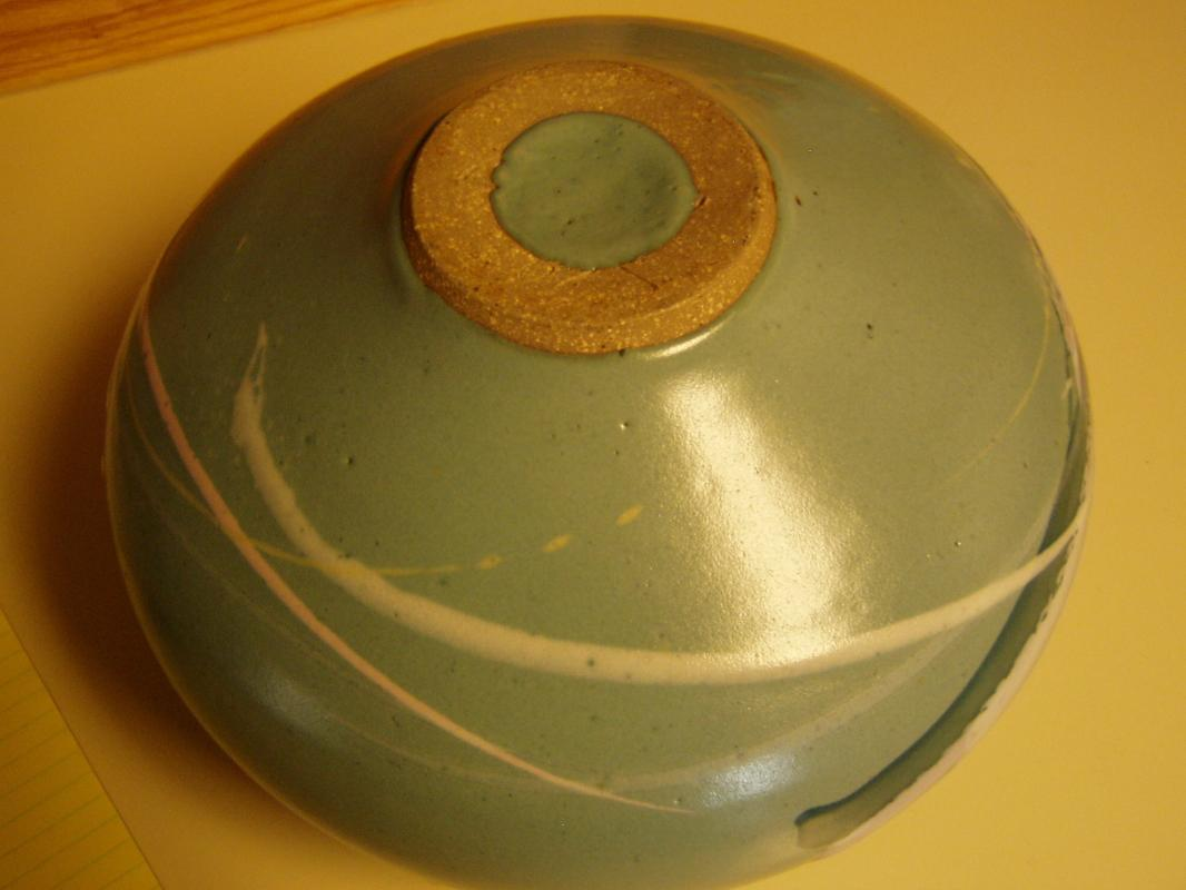 Old Japanese Studio Vase in Mint Green