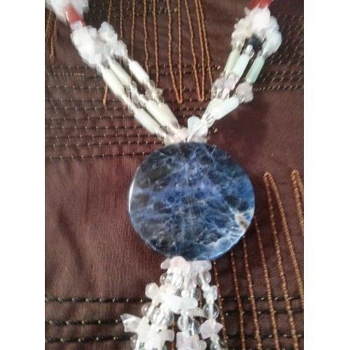Vintage 70's crystal necklace