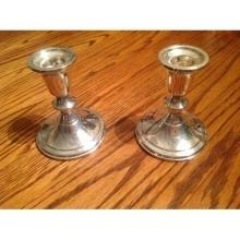 Antique Sterling Silver candlestick holders