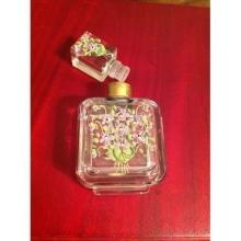 Enameled Vintage French Perfume Bottle Early 1900's