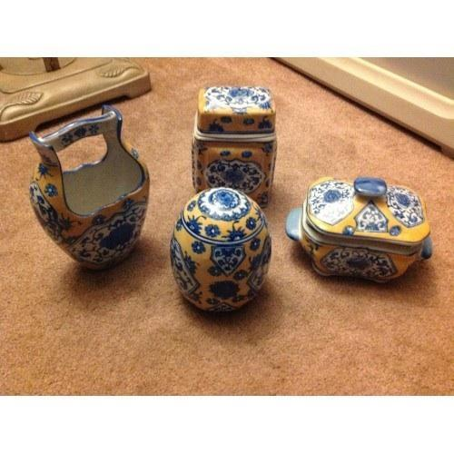 4 piece set of Japanese pottery
